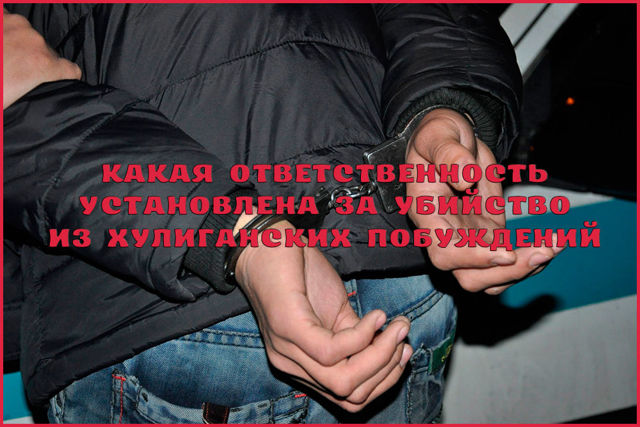 Убийство из хулиганских побуждений: статья УК РФ в 2020 году, наказание